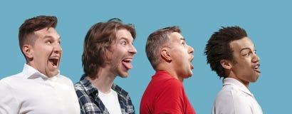 Les hommes observés par strabisme avec d'expression étrange photographie stock libre de droits