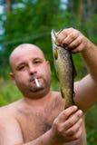 Les hommes réels vont pêcher Image stock