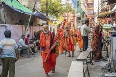 Les hommes saints de Varanasi Image libre de droits