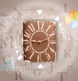 Les horloges avec le monde chronomètrent et financent le concept d'affaires Photographie stock