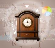 Les horloges avec le monde chronomètrent et financent le concept d'affaires Photos libres de droits