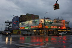 Les hot-dogs de Nathan, Coney Island Images stock