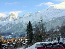 Les Houches Mont Blanc kształtuje teren Fotografia Stock