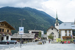 Les Houches town centre, in France Stock Photos