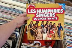 Les Humphries sångare - 20 Grossten slag Arkivbild