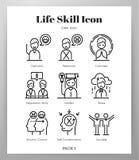 Les icônes à la vie quotidienne rayent le paquet illustration stock