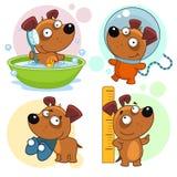 Les icônes avec des chiens pièce 26 illustration de vecteur