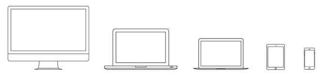 Les icônes d'ensemble d'instrument et de dispositif de maquette ont placé sur le fond blanc Illustration courante eps10 de vecteu illustration stock