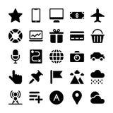 Les icônes d'interface empaquettent illustration stock
