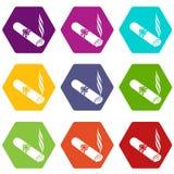 Les icônes de cigare ont placé 9 illustration libre de droits
