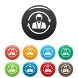 Les icônes de conservation de client ont placé la couleur illustration libre de droits