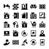 Les icônes de Real Estate emballent illustration libre de droits