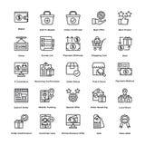 Les icônes de vecteur d'achats ont placé 5 illustration de vecteur