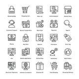 Les icônes de vecteur d'achats ont placé 1 illustration de vecteur