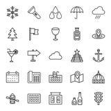 Les icônes de vecteur d'isolement par tourisme emballent qui peuvent être facilement modifiées ou éditées illustration de vecteur