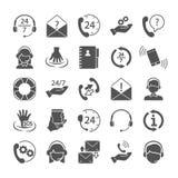 Les icônes simples de soutien et de centre d'appels ont placé pour le Web et la conception mobile Photo stock