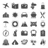 Les icônes simples de voyage et de vacances ont placé pour le Web et la conception mobile Image libre de droits