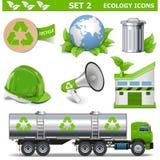 Les icônes d'écologie de vecteur ont placé 2 illustration de vecteur