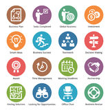 Les icônes d'affaires ont placé 3 - Dot Series Image stock