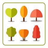 Les icônes d'arbre ont placé l'automne 1 illustration libre de droits