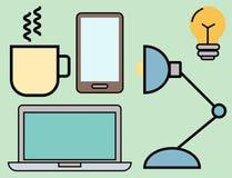 Les icônes d'ensemble de Web d'illustration de vecteur d'école d'éducation ont placé des symboles de diplômé de formation d'unive Image libre de droits