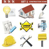 Les icônes de construction de vecteur ont placé 1 Illustration de Vecteur