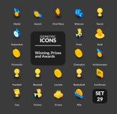 Les icônes de couleur ont placé dans le style isométrique plat d'illustration, collection de vecteur Photos stock