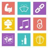 Les icônes de couleur pour le web design ont placé 48 Photographie stock libre de droits