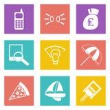Les icônes de couleur pour le web design ont placé 36 Photos stock