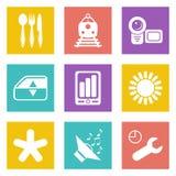Les icônes de couleur pour le web design ont placé 50 Image stock
