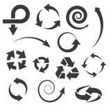 Les icônes de flèche ont placé des collections. illustration stock