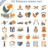 Les icônes de forme physique ont placé (4) Photos stock