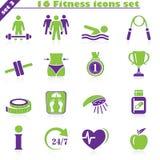 Les icônes de forme physique ont placé (3) Image stock