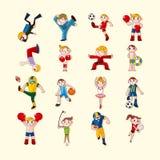 Icônes de joueur de sport réglées Photo libre de droits
