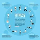 Les icônes de personnes de formation ont placé pour le sport et la forme physique Photo stock