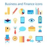 Les icônes de vecteur ont placé pour l'application Web d'affaires et de finances Photographie stock libre de droits