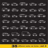 Les icônes de voitures ont placé 2. Image libre de droits