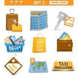 Les icônes de voyage de vecteur ont placé 2 Illustration Stock