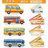 Les icônes de voyage de vecteur ont placé 6 illustration libre de droits