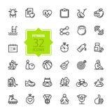 Les icônes de Web d'ensemble ont placé - sport et forme physique Photo stock