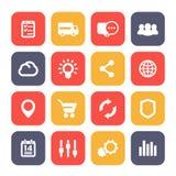 Les icônes de Web ont placé, commerce électronique, affaires et analytics Image stock