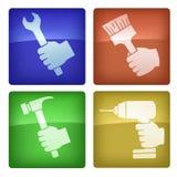 Les icônes du travailleur illustration stock