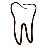 Les icônes humaines de dents ont placé d'isolement sur le fond blanc pour la clinique de médecine dentaire Logo linéaire de denti Photo libre de droits