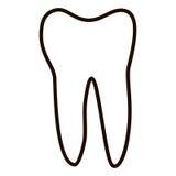 Les icônes humaines de dents ont placé d'isolement sur le fond blanc pour la clinique de médecine dentaire Logo linéaire de denti Photo stock
