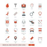 Les icônes médicales ont placé 01 illustration stock