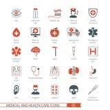 Les icônes médicales ont placé 02 Photos stock