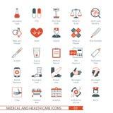 Les icônes médicales ont placé 03 Image stock