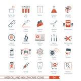 Les icônes médicales ont placé 04 Photo stock