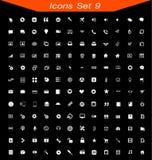 Les icônes ont placé aucun 09 illustration libre de droits
