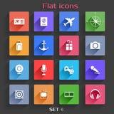 Les icônes plates d'application ont placé 6 Images libres de droits